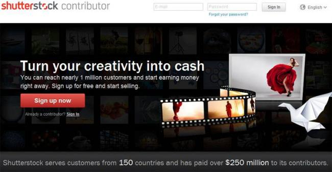 Shutterstock, регистрация, фотосток