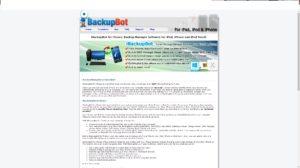 Бесплатное приложение iBackupBot